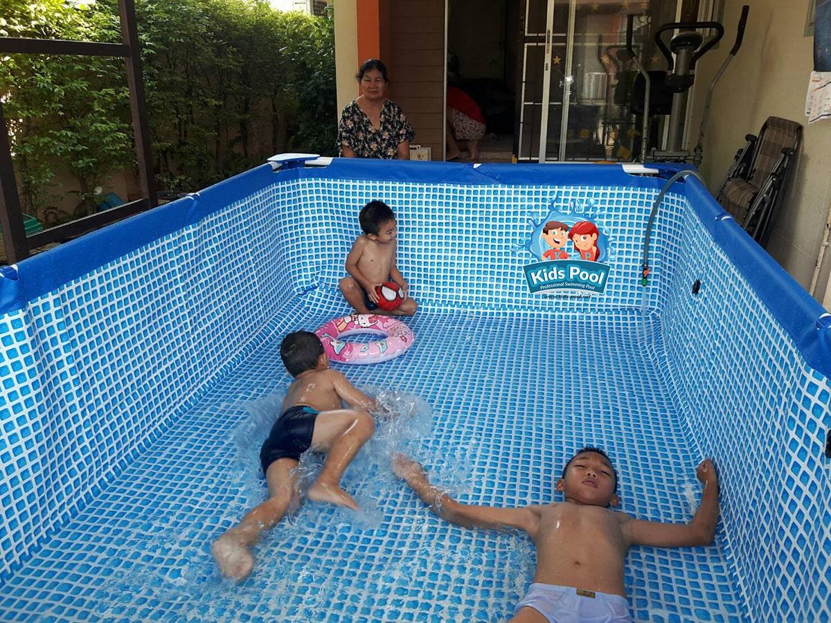 สระว่ายน้ำสำเร็จรูป Intex Metal Frame 0020