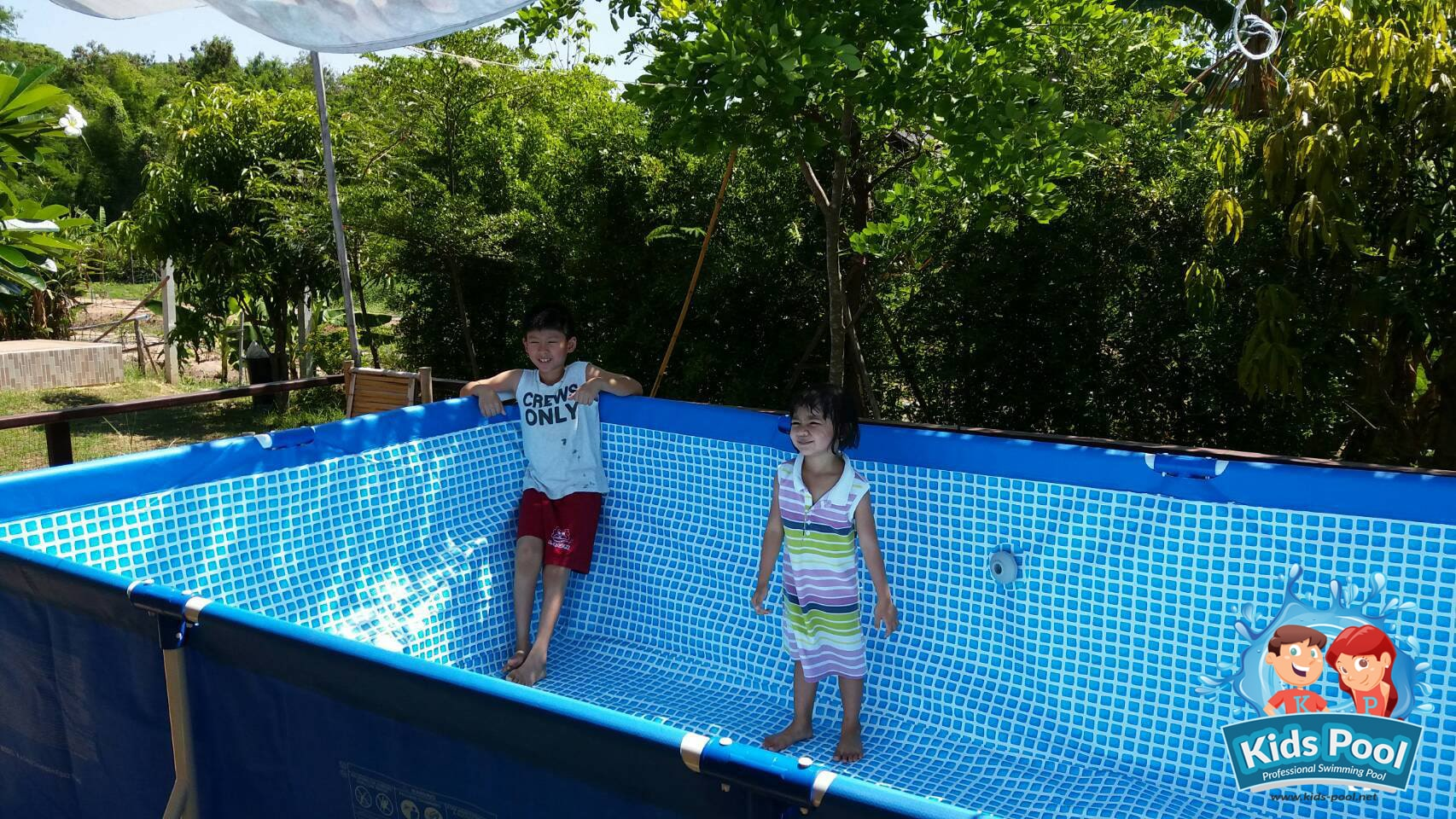 สระว่ายน้ำสำเร็จรูป Intex Metal Frame 0031