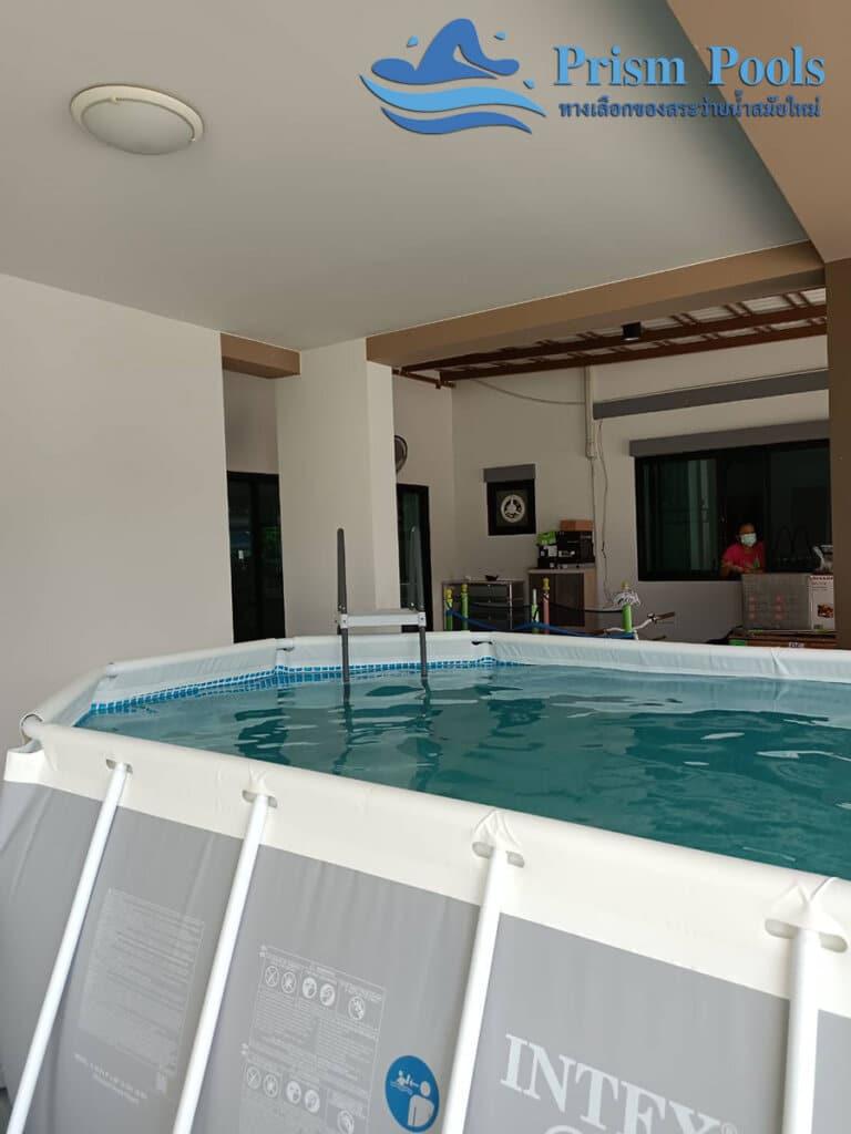 สระว่ายน้ำ intex Prism Oval 16.6 - 9