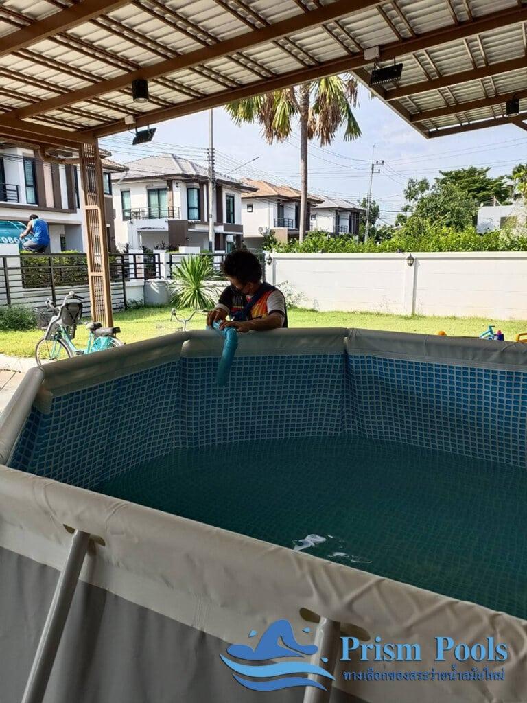 สระว่ายน้ำ intex Prism Oval 16.6 - 11
