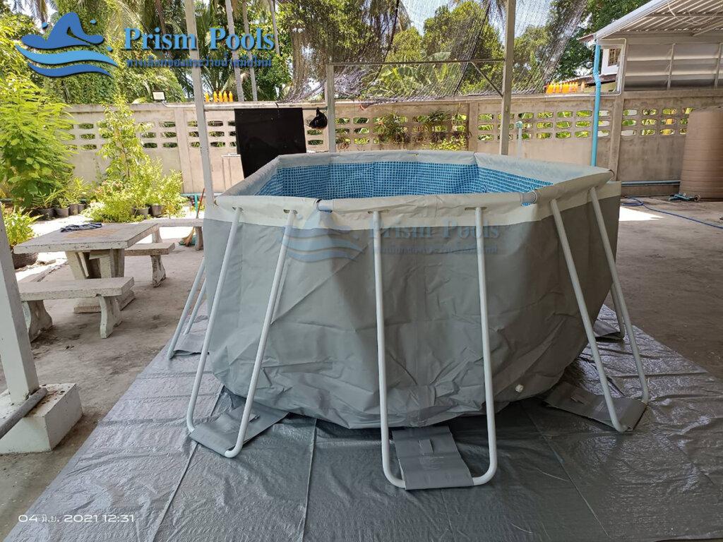 สระว่ายน้ำ intex Prism Oval 16.6 - 39