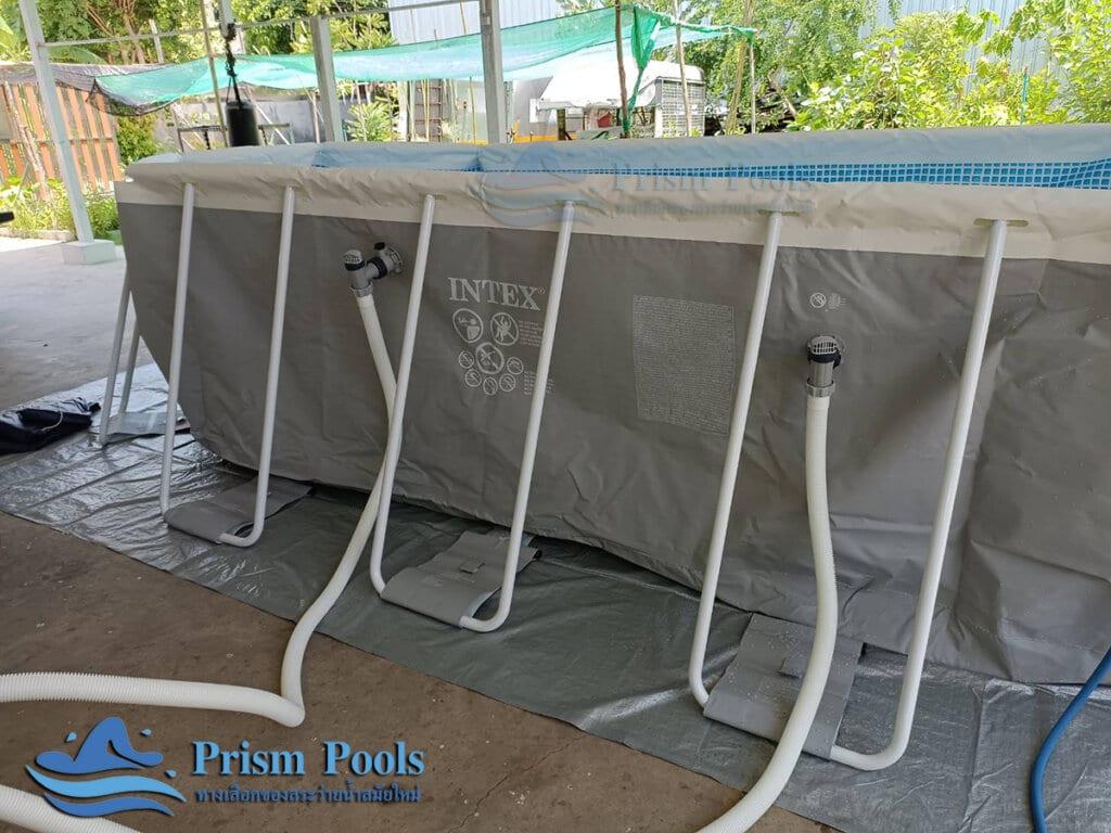 สระว่ายน้ำ intex Prism Oval 16.6 - 41