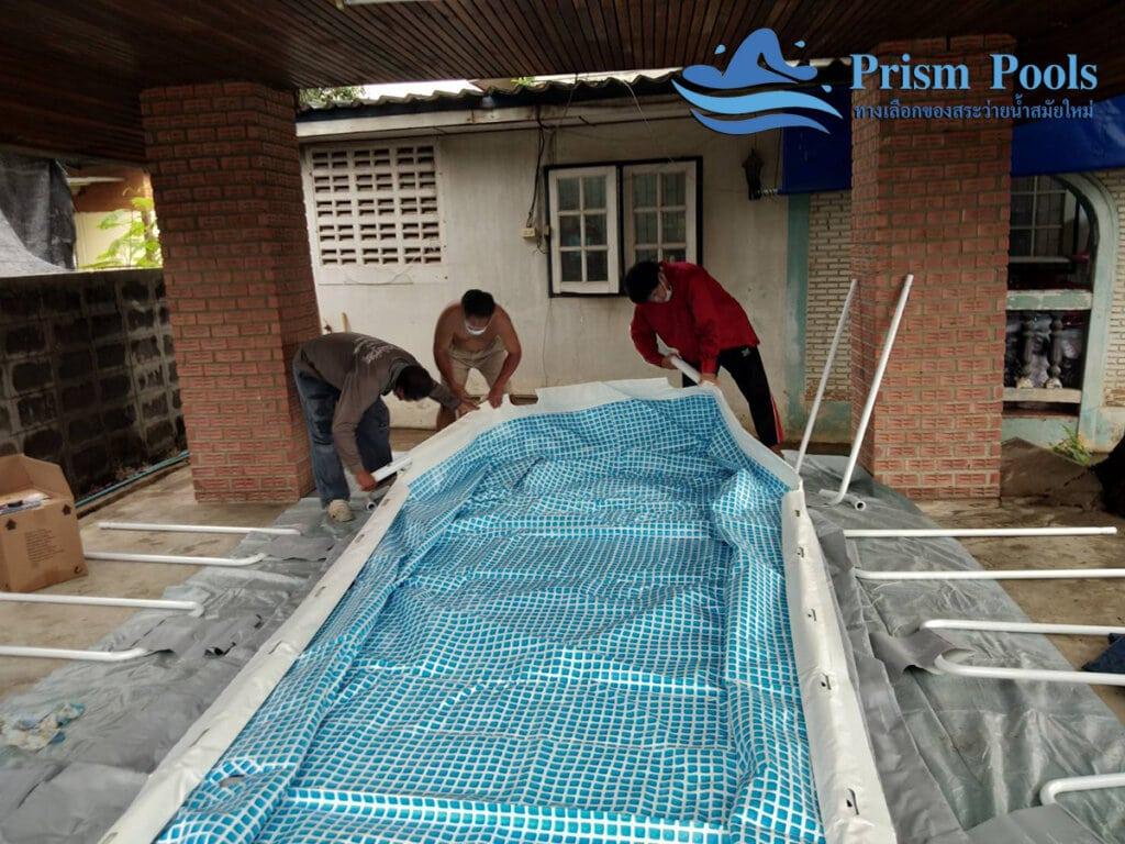 สระว่ายน้ำ intex Prism Oval 16.6 - 20