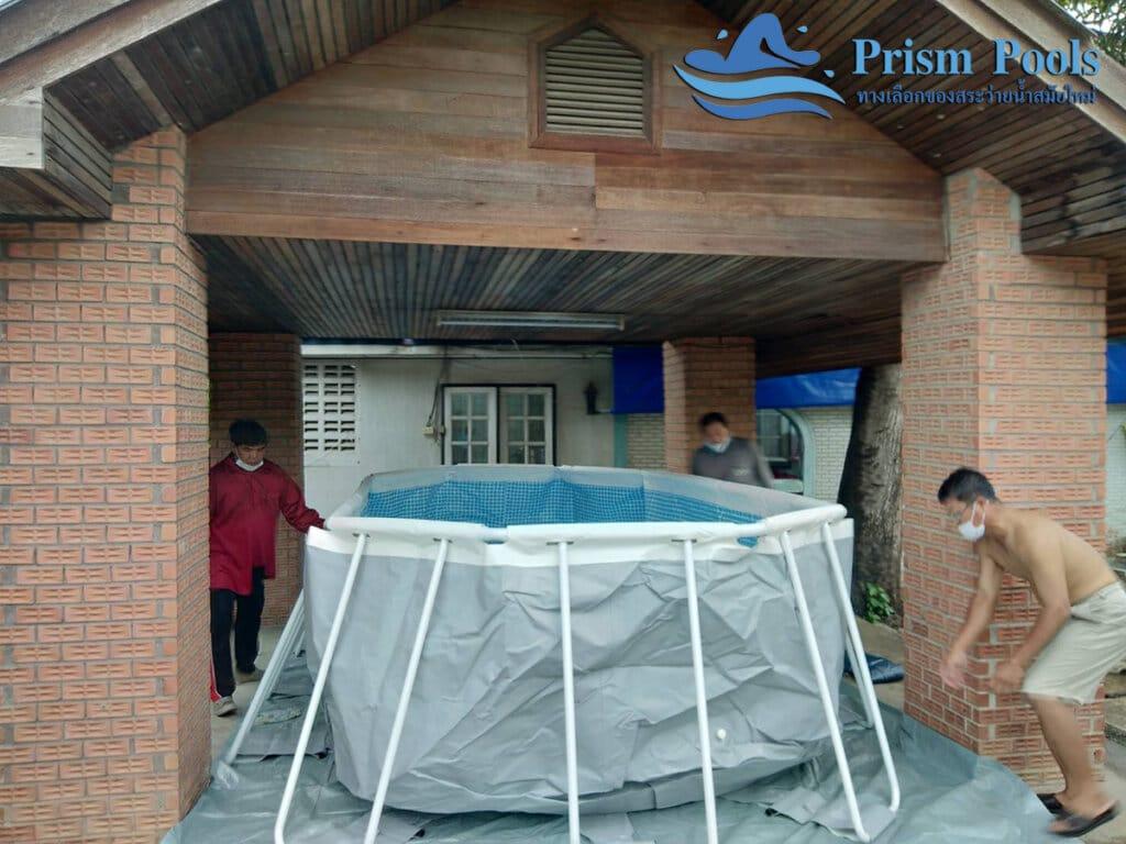 สระว่ายน้ำ intex Prism Oval 16.6 - 21