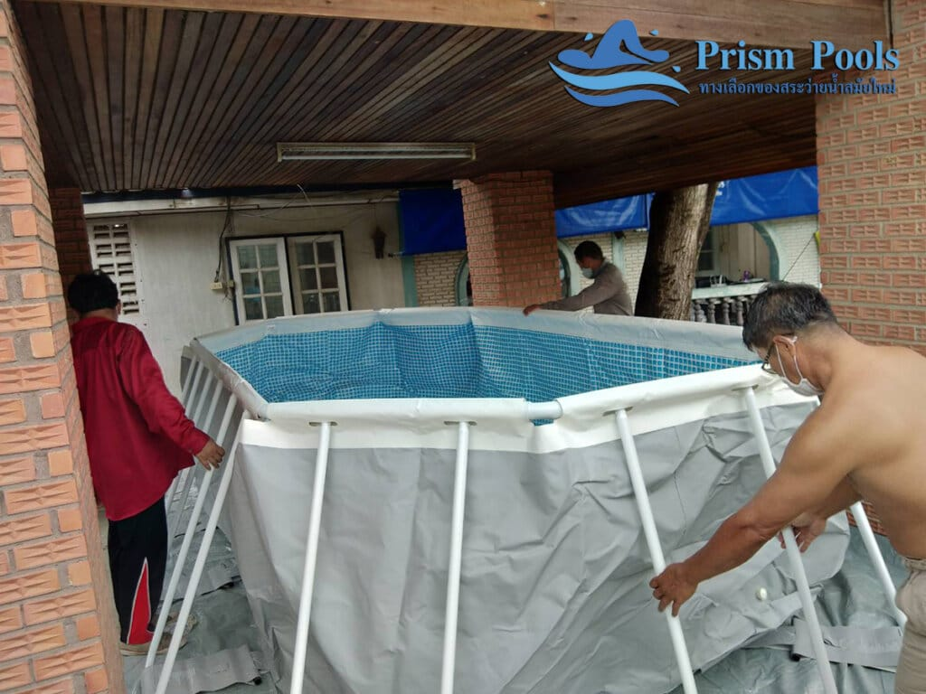 สระว่ายน้ำ intex Prism Oval 16.6 - 22