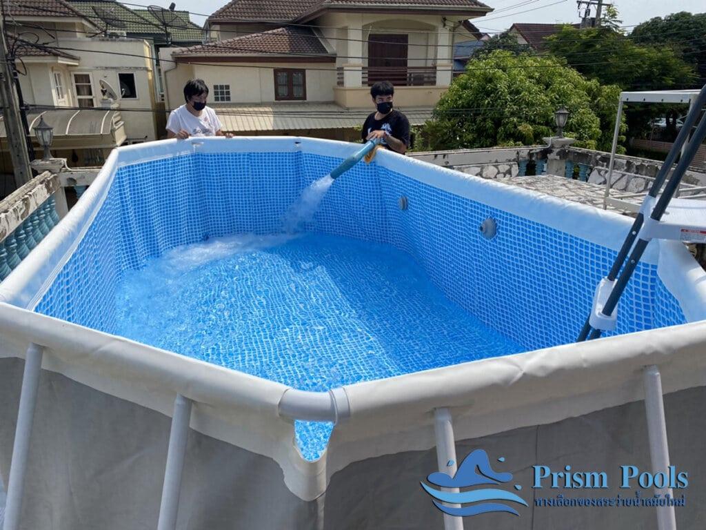 สระว่ายน้ำ intex Prism Oval 16.6 - 14